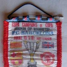 Coleccionismo deportivo: BANDERIN FINAL RECOPA DE EUROPA - FC. BARCELONA - MANCHESTER UNITED. Lote 42335707