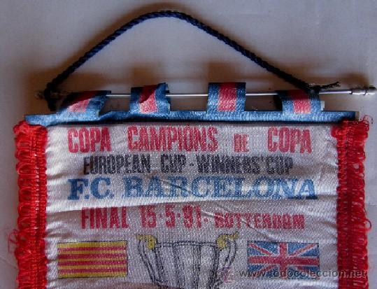 Coleccionismo deportivo: BANDERIN FINAL RECOPA DE EUROPA - FC. BARCELONA - MANCHESTER UNITED - Foto 2 - 42335707