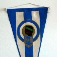 Coleccionismo deportivo: BANDERIN PENNANT ANTIGUO FUTBOL HERCULES ALICANTE IRUPE FOOTBALL VINTAGE.. Lote 42339669