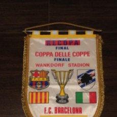 Coleccionismo deportivo: BANDERIN FINAL RECOPA DE EUROPA 1989 : FC BARCELONA VS UC SAMPDORIA. Lote 42615889