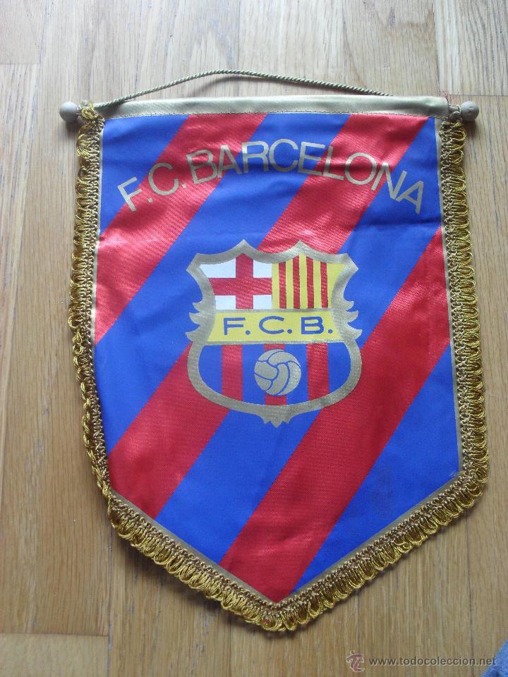 BANDERIN FC BARCELONA, (Coleccionismo Deportivo - Banderas y Banderines de Fútbol)