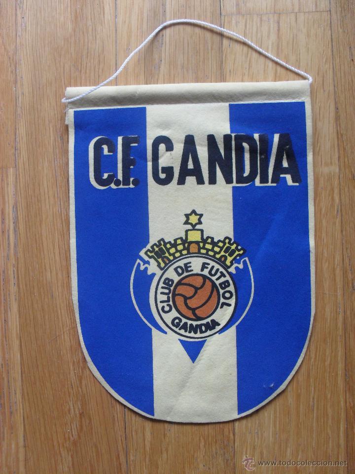 ANTIGUO BANDERIN CF GANDIA, (Coleccionismo Deportivo - Banderas y Banderines de Fútbol)