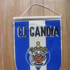 Coleccionismo deportivo: ANTIGUO BANDERIN CF GANDIA,. Lote 42629007