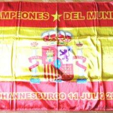 Coleccionismo deportivo: BANDERA GRANDE FLAG ESPAÑA CAMPEON DEL MUNDO FUTBOL 2010 JOHANESBURG. 150X100 CM. Lote 42771644