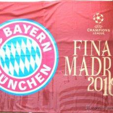 Coleccionismo deportivo: BANDERA FLAG BIG GRANDE BAYERN MUNCHEN 100X68 CM CHL FINAL MADRID10 OFICIAL UEFA . Lote 42771657