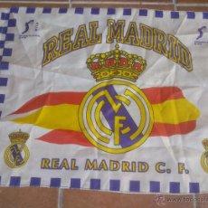 Coleccionismo deportivo: MINI BANDERA REAL MADRID C.F. PRODUCTO OFICIAL. A.C.B. 54 X 70 CM. Lote 42838352