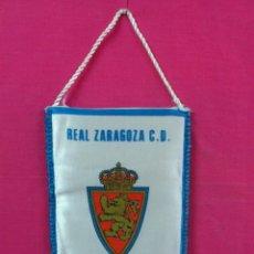 Coleccionismo deportivo: BANDERIN FUTBOL TIPO TELA REAL ZARAGOZA C.D. KHK BUMOWQ 18-3-'87. Lote 43129944