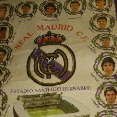 Coleccionismo deportivo: BANDERIN REAL MADRID,QUINTA DEL BUITRE AÑOS 80-90 -42X30 CM.. Lote 43288231