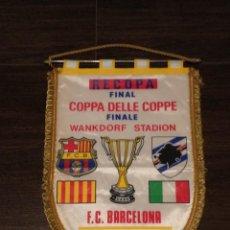 Coleccionismo deportivo: BANDERIN FINAL RECOPA DE EUROPA 1989 : FC BARCELONA VS UC SAMPDORIA. Lote 43640616