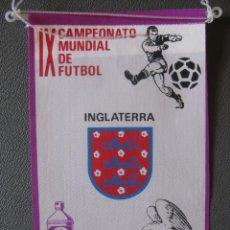 Coleccionismo deportivo: BANDERIN MUNDIAL MEXICO 70 - INGLATERRA - PUBLICIDAD BIO BLANCOL. Lote 44054596