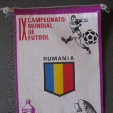 Coleccionismo deportivo: BANDERIN MUNDIAL MEXICO 70 - RUMANIA - PUBLICIDAD BIO BLANCOL. Lote 44054636