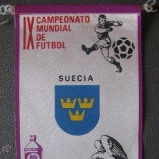 Coleccionismo deportivo: BANDERIN MUNDIAL MEXICO 70 - SUECIA - PUBLICIDAD BIO BLANCOL. Lote 44054725