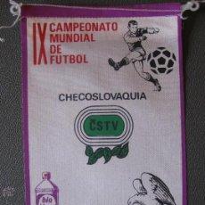 Coleccionismo deportivo: BANDERIN MUNDIAL MEXICO 70 - CHECOSLOVAQUIA - PUBLICIDAD BIO BLANCOL. Lote 44054729