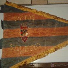 Collezionismo sportivo: BANDERÍN ANTIGUO DE LA PEÑA SOLERA DEL F.C BARCELONA.GRAN TAMAÑO.. Lote 44853740