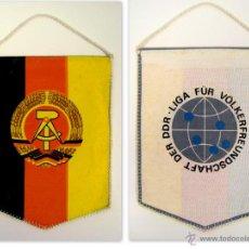 Coleccionismo deportivo: ANTIGUO BANDERIN DE LONA, LIGA VÖLKERFREUNDSCHAFT DER DDR (REPÚBLICA DEMOCRÁTICA ALEMANA).. Lote 44859328