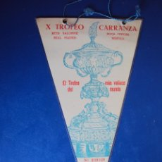 Coleccionismo deportivo: (F-936)BANDERIN DEL X TROFEO CARRANZA DEL AÑO 1964.BETIS B,REAL MADRID,BOCA JUNIORS Y BENFICA.. Lote 45431546
