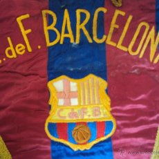 Coleccionismo deportivo: (F-1246)BANDERIN BORDADO C.F.BARCELONA FUNDADO EN EL AÑO 1899,AÑOS 50-60,MATCH WORN. Lote 46768164