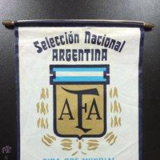 Coleccionismo deportivo: BANDERÍN DE LA SELECCIÓN ARGENTINA DE FÚTBOL AFA GIRA PRE-MUNDIAL ESPAÑA 82 1982- MARADONA.. Lote 46977288