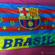 Coleccionismo deportivo: BANDERA FUTBOL BRASIL F.C. BARCELONA. Lote 115479559