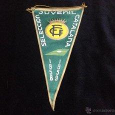Coleccionismo deportivo: ANTIGUO BANDERIN DE LA SELECCION CATALANA DE FUTBOL JUVENIL AÑOS 1958-1959 REAL FEDERACION CATALANA. Lote 47391045