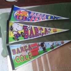 Coleccionismo deportivo: LOTE DE 3 BANDERINES BANDERAS BANDEROLAS FUTBOL CLUB BARCELONA BARÇA DIARIO SPORT 1998 98 SNOOPY .... Lote 47471023