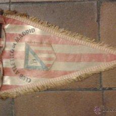 Collectionnisme sportif: BANDERÍN ORIGINAL DE FUTBOL CLUB ATLETICO DE MADRID AÑOS 50/60. MEDIDA 42 CM. Lote 47592757