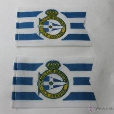 Coleccionismo deportivo: 2 BANDERINES ANTIGUOS FUTBOL REAL CLUB DEPORTIVO LA CORUÑA. Lote 47704898