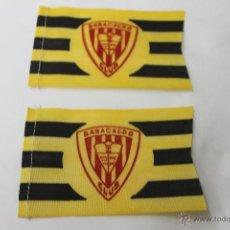 Coleccionismo deportivo: 2 BANDERINES ANTIGUOS FUTBOL BARACALDO CLUB. Lote 47705069