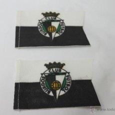Coleccionismo deportivo: 2 BANDERINES ANTIGUOS FUTBOL BURGOS CLUB FUTBOL. Lote 47705088