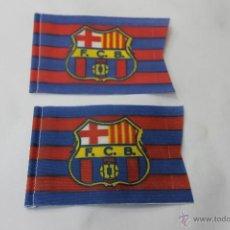 Coleccionismo deportivo: 2 BANDERINES ANTIGUOS FUTBOL FUTBOL CLUB BARCELONA. Lote 47705276