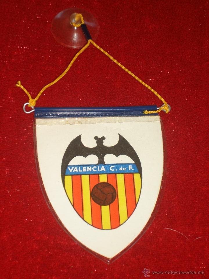 BANDERÍN DEL VALENCIA C.F. AÑOS 70 (Coleccionismo Deportivo - Banderas y Banderines de Fútbol)