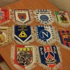 Coleccionismo deportivo: 10 BANDERINES ANTIGUOS DE FUTBOL (PEQUEÑOS). Lote 48586475