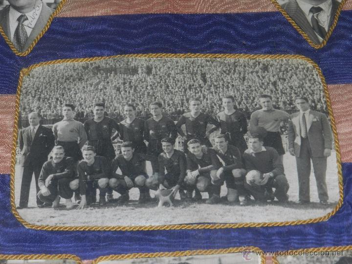 Coleccionismo deportivo: CF BARCELONA - BANDERA ENMARCADA CF BARCELONA CAMPEON DE ESPAÑA 1948 - 1949, FOTOGRAFIAS DEDICADAS - Foto 8 - 48630746