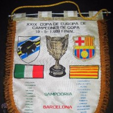 Coleccionismo deportivo: BANDERIN FINAL RECOPA DE EUROPA 1989 - F.C. BARCELONA - SAMPDORIA . Lote 48663386