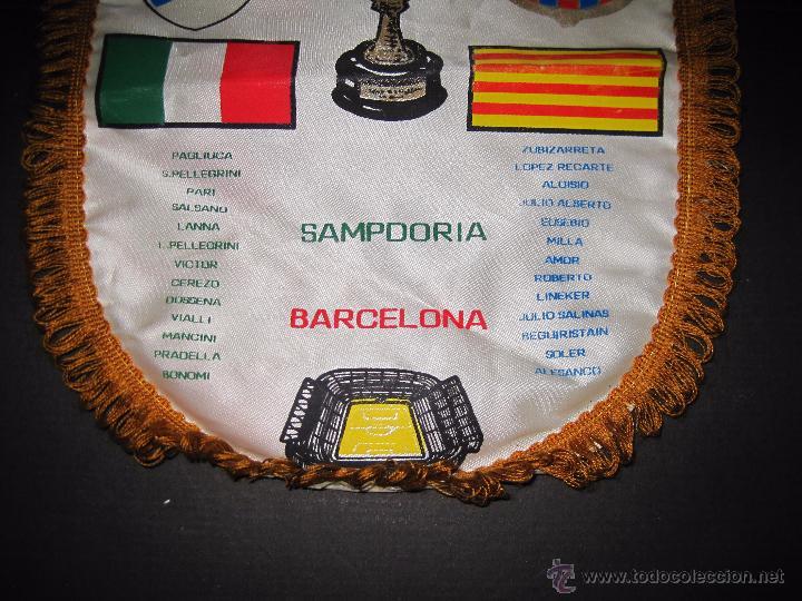 Coleccionismo deportivo: BANDERIN FINAL RECOPA DE EUROPA 1989 - F.C. BARCELONA - SAMPDORIA - Foto 3 - 48663386