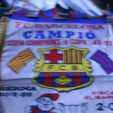 Coleccionismo deportivo: BANDERIN DEL BARÇA - BARCELONA F. C. -CAMPIO - COPA CAMPIONS DE COPA 88 - 89. Lote 49427336