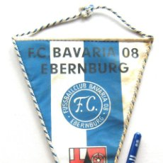 Coleccionismo deportivo: BANDERIN PENNANT FC BAVARIA 08 EBERNBURG ALEMANIA ORIGINAL 24 X 17 CM . Lote 49878863