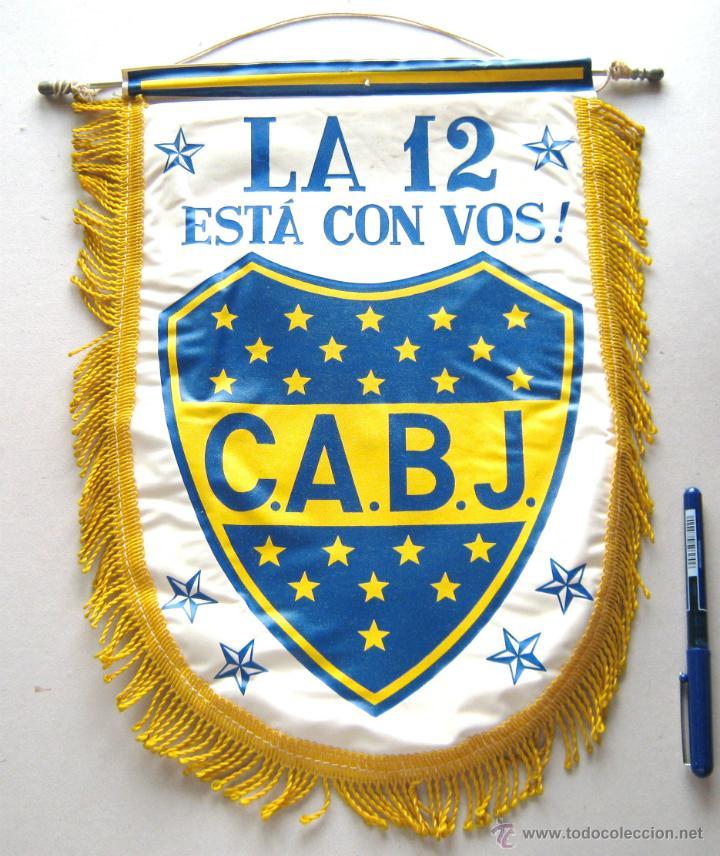 Banderin futbol pennant boca juniors jrs la 12 - Sold at