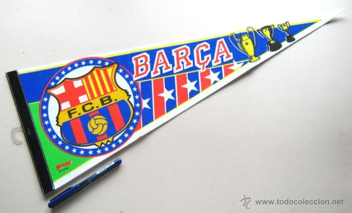 BANDERIN FUTBOL PENNANT FC BARCELONA 59 X 22 CM BUEN ESTADO BARÇA (Coleccionismo Deportivo - Banderas y Banderines de Fútbol)