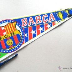 Coleccionismo deportivo: BANDERIN FUTBOL PENNANT FC BARCELONA 59 X 22 CM BUEN ESTADO BARÇA. Lote 49902781