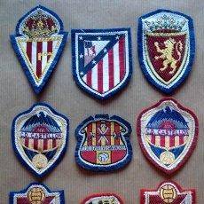 Coleccionismo deportivo: LOTE 9 ESCUDOS DE FÚTBOL EN TELA. Lote 50291112