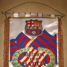Coleccionismo deportivo: BANDERÍN F.C.BARCELONA EN TELA 1898 - 1984 . Lote 50297208