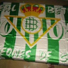 Coleccionismo deportivo: BANDERA DEL BETIS CAMPEON COPA DEL REY 2005 NUEVA PRECINTADA MIDE 1,5 MTS X 1 METRO. Lote 50329379
