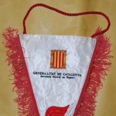Coleccionismo deportivo: BANDERIN SECRETARIA GENERAL DE L'SPORT GENERALITAT DE CALALUNYA SPORT CATALA - BORDADO. Lote 50824401