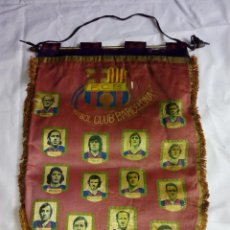 Coleccionismo deportivo: BANDERÍN FCB FÚTBOL CLUB BARCELONA HISTORIAL. ÉPOCA CRUYFF. Lote 52463364