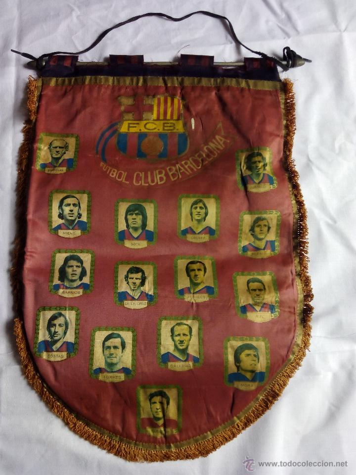 Coleccionismo deportivo: Banderín FCB fútbol club barcelona historial. Época Cruyff - Foto 2 - 52463364