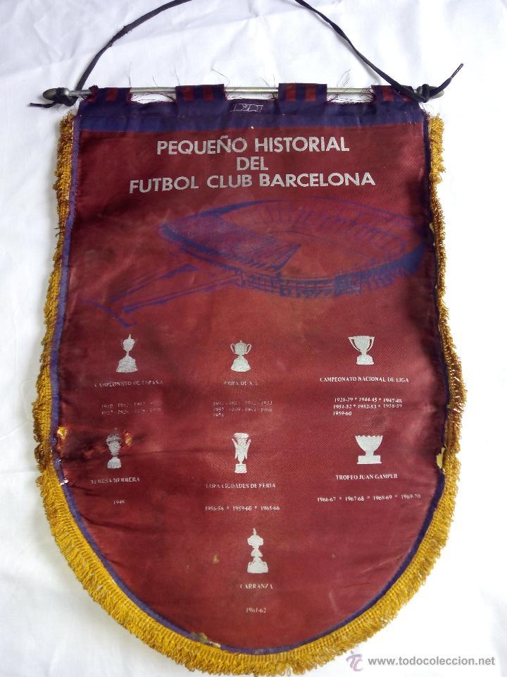 Coleccionismo deportivo: Banderín FCB fútbol club barcelona historial. Época Cruyff - Foto 3 - 52463364