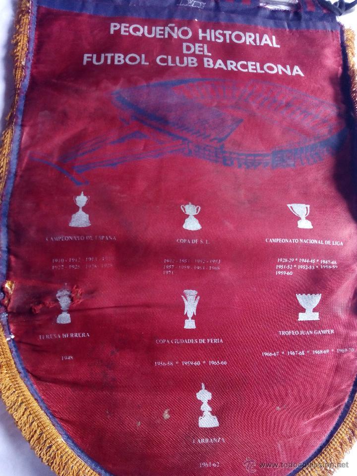Coleccionismo deportivo: Banderín FCB fútbol club barcelona historial. Época Cruyff - Foto 4 - 52463364