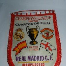 Coleccionismo deportivo: BANDERIN DE CUARTOS DE CHAMPIONS LEAGUE, CUARTOS DE FINAL, REAL MADRID C.F. / MANCHESTER UNITED, MAD. Lote 52833052