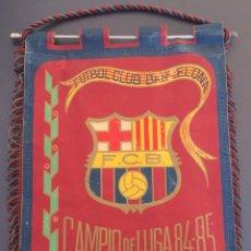Coleccionismo deportivo: BANDERIN FC BARCELONA CAMPEON TEMPORADA 84-85. Lote 52936532